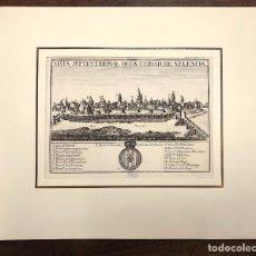 Arte: VISTA SEPTENTRIONAL DE LA CIUDAD DE VALENCIA. EXTRAIDO DEL ATLANTE ESPAÑOL. AÑO 1784. Lote 213073932