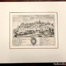 Arte: VISTA MERIDIONAL DE LA CIUDAD DE TARRAGONA. EXTRAIDO DEL ATLANTE ESPAÑOL. AÑO 1784. Lote 213074067