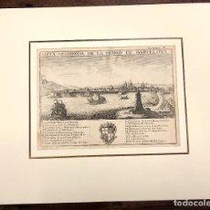 Arte: VISTA MERIDIONAL DE LA CIUDAD DE BARCELONA. EXTRAIDO DEL ATLANTE ESPAÑOL. AÑO 1784. Lote 213074135