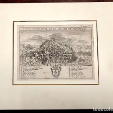 Arte: VISTA MERIDIONAL DE LA CIUDAD DE ALBARRACIN. TERUEL. EXTRAIDO DEL ATLANTE ESPAÑOL. AÑO 1784. Lote 213074285