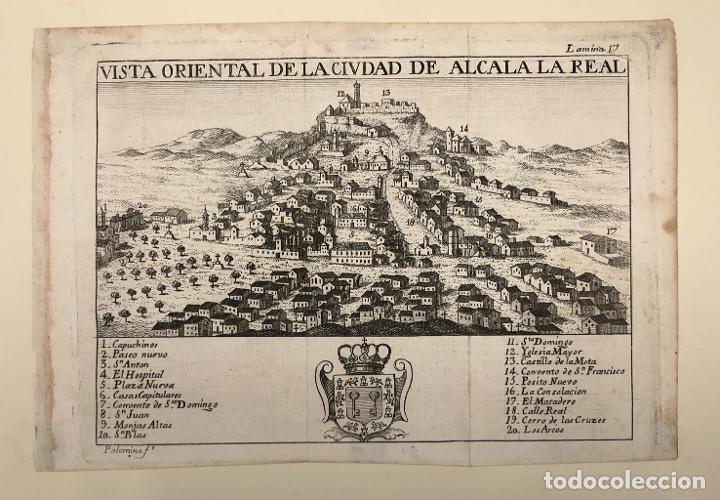 Arte: VISTA ORIENTAL DE LA CIUDAD DE ALCALA LA REAL. JAEN. EXTRAIDO DEL ATLANTE ESPAÑOL. AÑO 1784 - Foto 2 - 213074338
