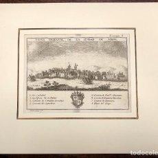 Arte: VISTA ORIENTAL DE LA CIUDAD DE VIQUE (VICH). EXTRAIDO DEL ATLANTE ESPAÑOL. AÑO 1784. Lote 213074496