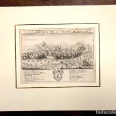 Arte: VISTA ORIENTAL DE LA CIUDAD DE CALATAYUD. EXTRAIDO DEL ATLANTE ESPAÑOL. AÑO 1784. Lote 213074587
