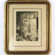 Arte: RAMON DE CAPMANY, GRABADO, CIENTÍFICO, FIRMADO Y DEDICADO, CON MARCO. 25X18,5CM. Lote 213221911
