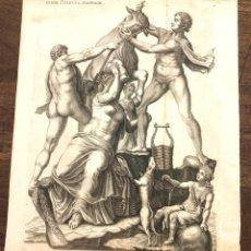 Arte: GRABADO ZETO Y ANFION, HIJOS DEL DIOS GRIEGO ZEUS. C. 1680. Lote 213247606