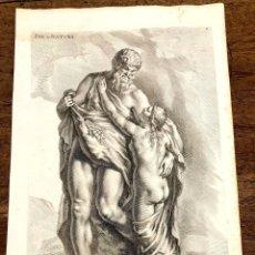 Arte: GRABADO PAN ET NATURA. SANDRART DEL. COLLIN SCULP. 1677. Lote 213247918