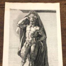 Arte: GRABADO GRIEGO SATYRUS. SATIRO. SANDRART DEL. COLLIN SCULP. 1676. Lote 213248212