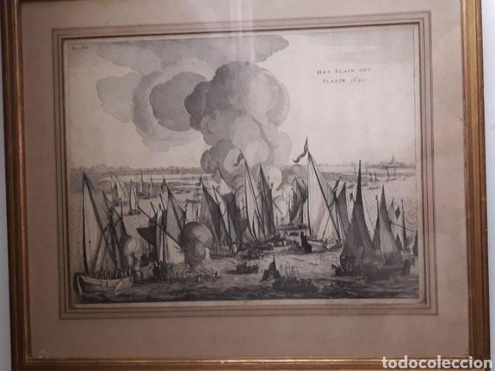 BATALLA HET SLACH OPT SLAECK 1631 GRABADO DE ISAAC COMMELIN. GRABADO A BURIL DEL SIGLO XVII. (Arte - Grabados - Antiguos hasta el siglo XVIII)