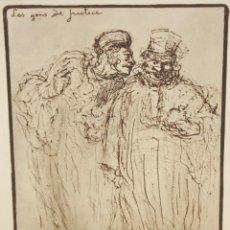 Arte: HONORE DAUMIER (MARSELLA, 1808 - VALMONDOIS, 1879) AGUAFURTE NUMERADO 182/500. LES GENS DE JUSTICE.. Lote 213499231