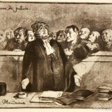 Arte: HONORE DAUMIER (MARSELLA, 1808 - VALMONDOIS, 1879) AGUAFURTE NUMERADO.. Lote 213499347