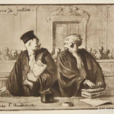 Arte: HONORE DAUMIER (MARSELLA, 1808 - VALMONDOIS, 1879) AGUAFURTE NUMERADO.. Lote 213499398