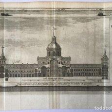 Arte: GRABADO ANTIGUO. CORTE MONASTERIO EL ESCORIAL (MADRID, ESPAÑA) VAN DER AA DELICES ESPAGNE. AÑO 1715. Lote 213607857