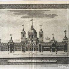 Arte: GRABADO ANTIGUO. CORTE MONASTERIO EL ESCORIAL (MADRID, ESPAÑA) VAN DER AA DELICES ESPAGNE. AÑO 1715. Lote 213607971