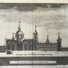 Arte: GRABADO ANTIGUO. SECCIÓN MONASTERIO EL ESCORIAL (MADRID, ESPAÑA) VAN DER AA DELICES ESPAGNE. 1715. Lote 213609236