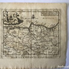 Arte: GRABADO ANTIGUO. MAPA VIZCAYA ALAVA PAIS VASCO (ESPAÑA) VAN DER AA DELICES ESPAGNE. AÑO 1715. Lote 213610820