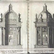 Arte: GRABADO ANTIGUO. CUPULA CAPILLA MONASTERIO EL ESCORIAL (MADRID, ESPAÑA). VAN DER AA. AÑO 1715. Lote 213643268