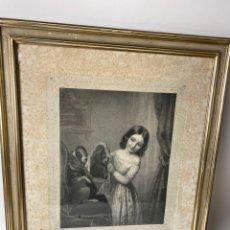 Arte: C-987. GRABADO LA TOILETTE DU CHIEN. FINCK PINCX. IMP.LEMERCIER, PARIS.REGNIER.S.XIX.. Lote 213686317