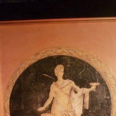 Arte: PIROGRABADO COLOREADO REPRESENTANDO AL DIOS MARTE? AÑOS 30 (33 X 26). Lote 213687918