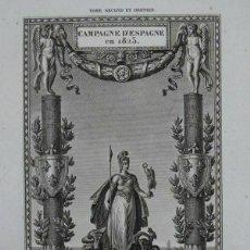 Arte: FRONTISPICIO DE LA CAMPAGNE D'ESPAÑA EN 1823, 1824. ABEL HUGO/LE FUEL. Lote 213768132