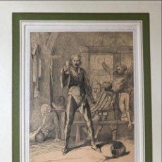 Arte: BEBEDORES DE VINO EN UNA TABERNA, 1865. GUTSCH Y RUPP/JUNG. Lote 213869392