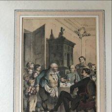 Arte: ESCENA EN EL INTERIOR DE UNA TABERNA, 1853. ANÓNIMO. Lote 213871402