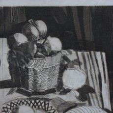 Arte: MIGUEL RODRÍGUEZ ACOSTA GRANADA 1927. GRABADO AL AGUATINTA DE 19,2X24,3 (HUELLA) EN 27,3X35. 12/125.. Lote 213885571