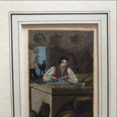 Arte: CORTADOR DE CORCHO. FABRICANTE DE TAPONES PARA BOTELLAS DE VINO, 1820. ANÓNIMO. Lote 213897657
