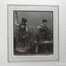 Arte: LLENANDO Y COLOCANDO TAPONES A BOTELLAS DE CHAMPÁN, HACIA 1850. ANÓNIMO. Lote 213899267