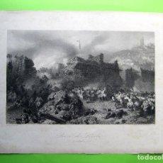 Arte: PRISE DE LERIDA. TOMA DE LERIDA. 13 DE OCTUBRE 1707. GRAVÉ PER J. H. KERNOT DE LONDRES, S/F.. Lote 214000850