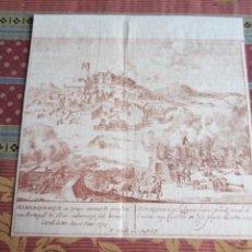 Arte: 1720-BATALLA DE ALBURQUERQUE. BADAJOZ.GUERRA DE SUCESIÓN EN 1705. GRABADO ORIGINAL. Lote 214118267