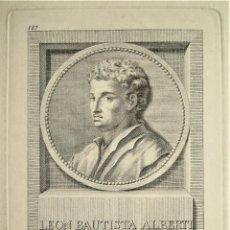 Arte: GRABADO POR JUAN BARCELON Y ABELLÁN DE LEÓN BAUTISTA ALBERTI PINTOR FLORENTINO.. Lote 214296765