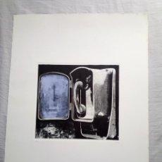 Arte: GRABADO LITOGRAFICO ORIGINAL EN PLANCHA -ARTE MODERNO -FIRMA ORIGINAL A LAPIZ -M. SASSO 1976. Lote 214324468