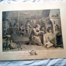 Arte: GRABADO - LE CHIMISTE- JACQUES PHIIPPE LE BAS.. Lote 214347753