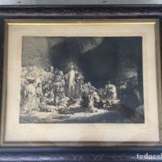 Arte: GRABADO LA ESTAMPA DE LOS MIL FLORINES, REMBRANDT FACSIMIL ENMARCADO DE ÉPOCA. Lote 214355960