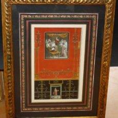 Arte: NICOLAUS VANNI (SIGLO XVIII) GRABADO COLOREADO SOBRE LOS FRESCOS DE POMPEYA.. Lote 214486076