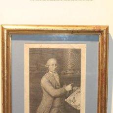 Arte: GRABADO ORIGINAL M. ESQUIVEL SOTOMAYOR S. XVII CON MARCO DE PAN DE ORO. Lote 214716375