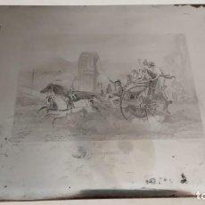 Arte: PLANCHA DE GRABADO ACERO LE CORRICOLO POR ROUARGUE EDITADO EN PARÍS EN 1860 ITALIA NÁPOLES SIGLO XIX. Lote 215562797