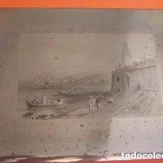 Arte: PLANCHA GRABADO ACERO DE LA MEDINA DE TANGER, MARRUECOS, DE LOS HERMANOS ROUARGUE MITAD SIGLO XIX. Lote 215567161
