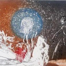 Arte: JORGE CASTILLO .GRABADO. NUMERADO Y FIRMADO.. Lote 215622822
