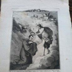 Arte: GRABADO ANTIGUO RELIGIOSO - BARTOLOME VAZQUEZ- SIGLO XVIII NICOLAS SAGGIO DE LONGOBARDI. Lote 215683962