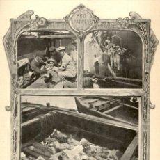 Arte: 1898 - PRO PATRIA - REPATRIACIÓN DE HERIDOS EN LA CORUÑA, PROCEDENTES CUBA - LA ILUSTRACION ESPAÑOLA. Lote 215737531
