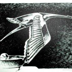 Arte: MASCOTA HISPANO-SUIZA. GRABADO ORIGINAL DE FERNANDO HOYOS. SERIE LIMITADA DE 50 EJEMPLARES.. Lote 216435775