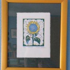 Arte: GRABADO DE LA ARTISTA MARISA ESTEBAN. GIRASOL. 4/25 AÑO 2002. PERFECTO. Lote 216542417