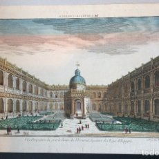 Arte: GRABADO DE EL ESCORIAL-CLOITRE DE L'ESCORIAL CHATEAU ROYAL EN ESPAGNE CHEZ HOCQUART,SIGLO XVIII. Lote 216575400