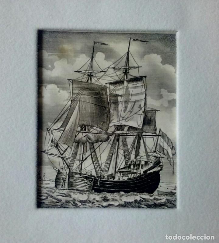 Arte: Grabado enmarcado tarjeta Navideña de Luis Carrero Blanco - Foto 2 - 216688250
