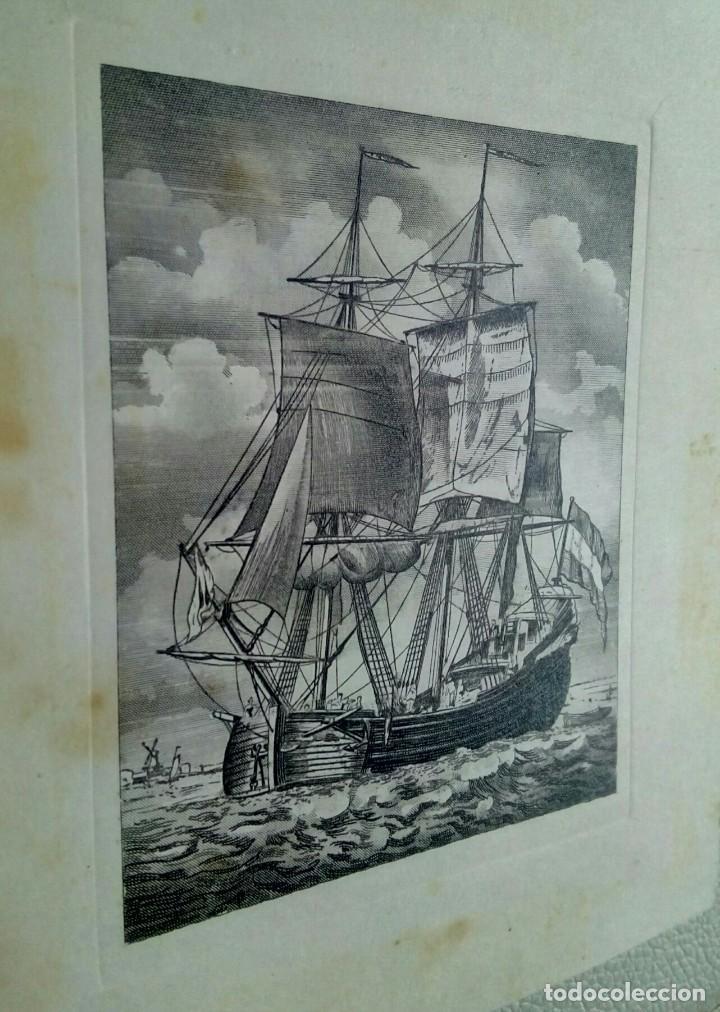 Arte: Grabado enmarcado tarjeta Navideña de Luis Carrero Blanco - Foto 4 - 216688250