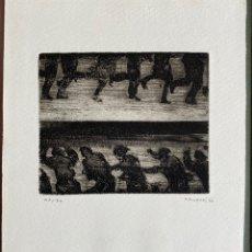 Arte: JUAN GENOVÉS GRABADO FIRMADO 1966 MARLBOROUGH LONDRES. Lote 216726781