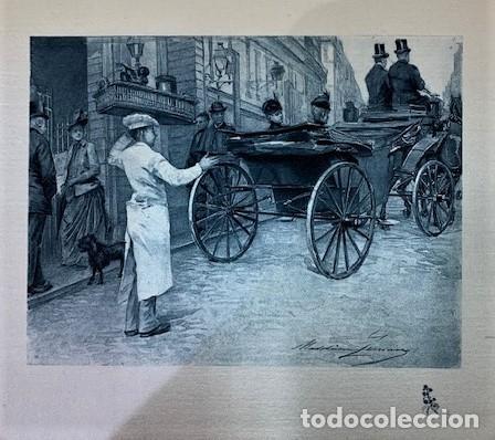 MADELEINE GERMAIN, GRABADO SOBRE SEDA. (Arte - Grabados - Modernos siglo XIX)