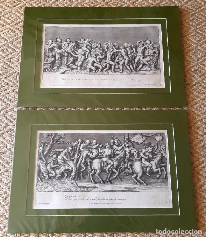 Arte: 2 Grabados Italianos del Siglo XVIII. Escenas Clásicas - Foto 2 - 216955708