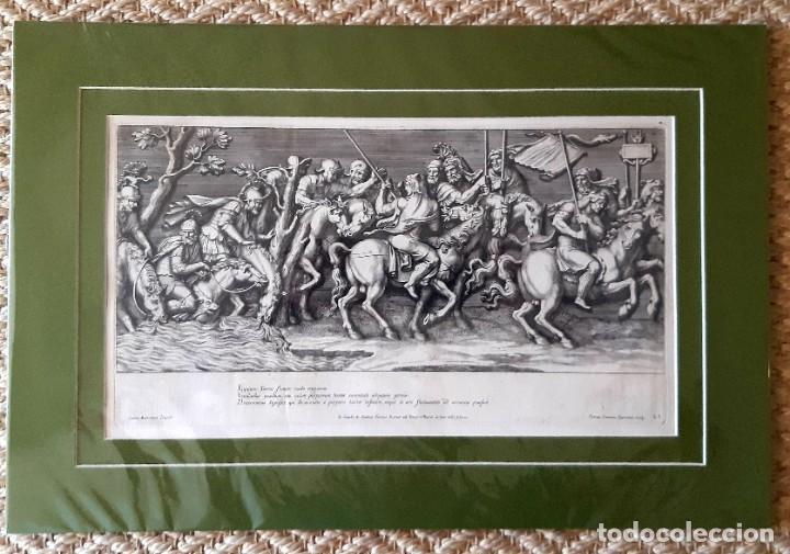 Arte: 2 Grabados Italianos del Siglo XVIII. Escenas Clásicas - Foto 3 - 216955708